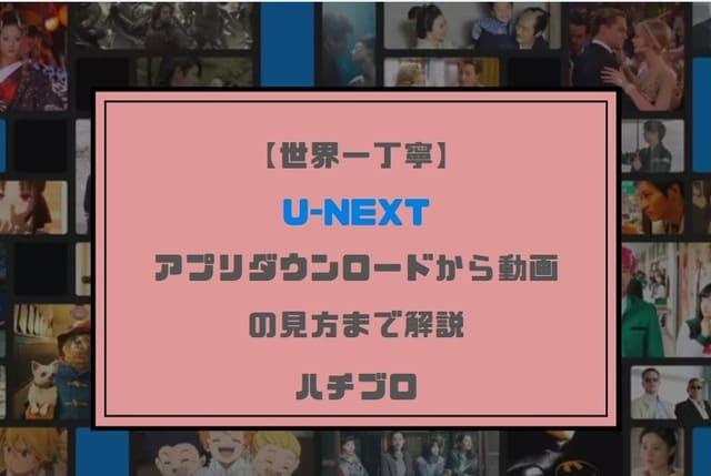 【世界一丁寧】U-NEXTアプリダウンロードから動画の見方まで解説!